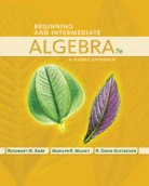Beginning and Intermediate Algebra: A Guided Approach 7th edition